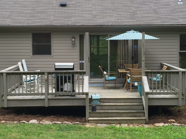 Relax on your rear deck!