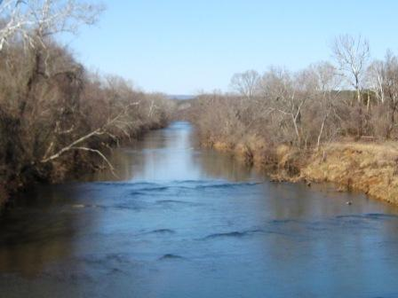 The Rivanna River (Mr. Jefferson's River) in Fluvanna County, Virginia