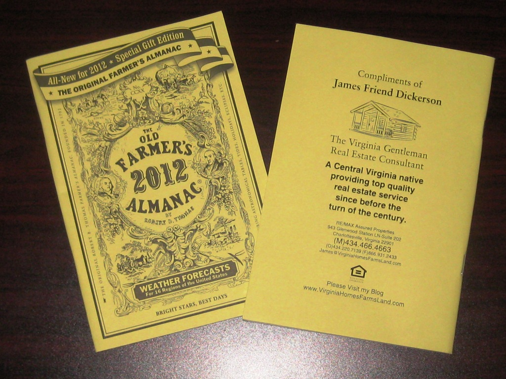 2012 old farmer s almanac available in central virginia for Farmers almanac fishing report