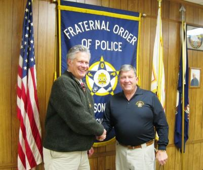 James Dickerson & Bob Romanac team up to raise some funds for the FOP.