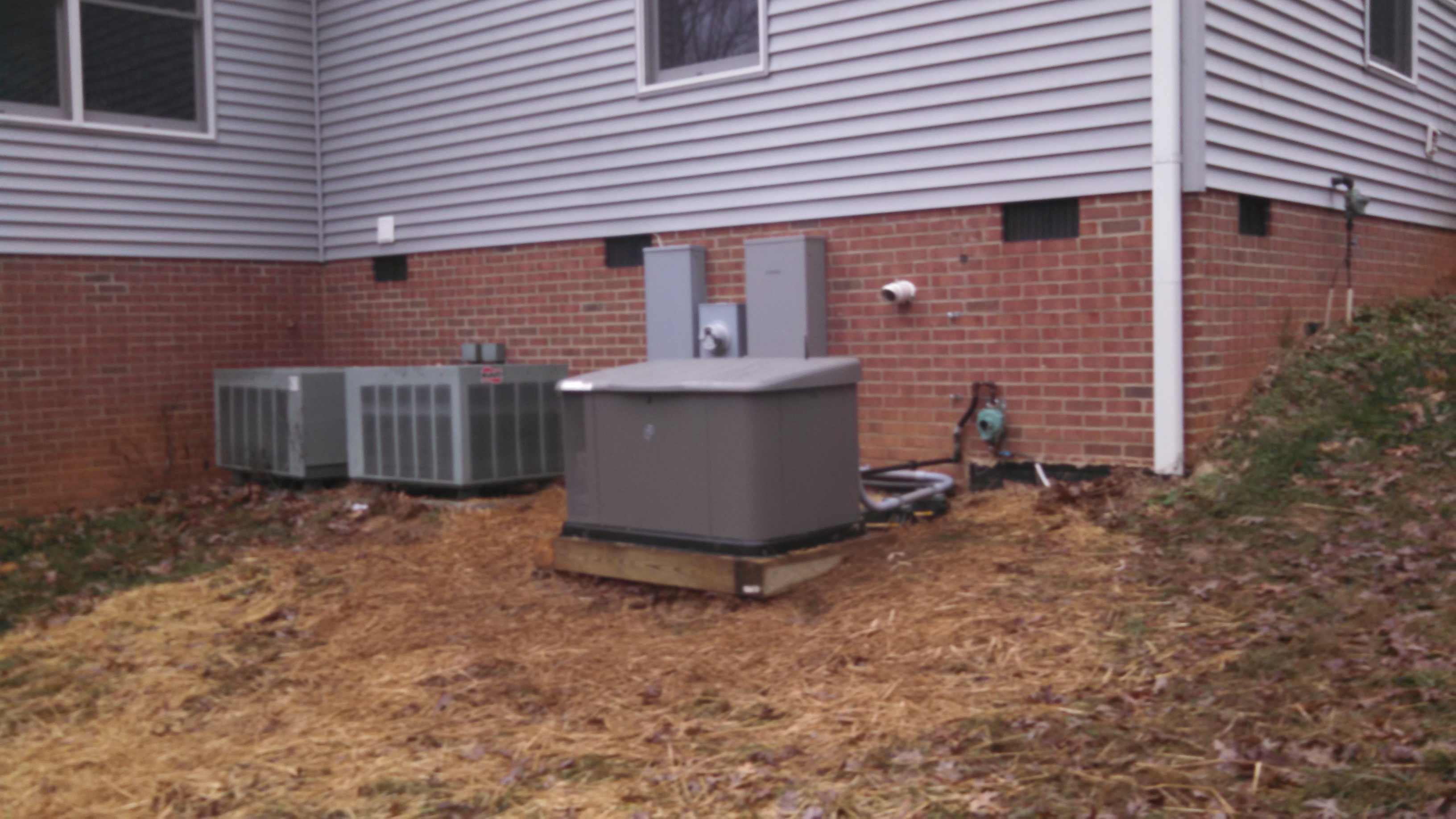 Replacement Whole House Generator Installed & Working