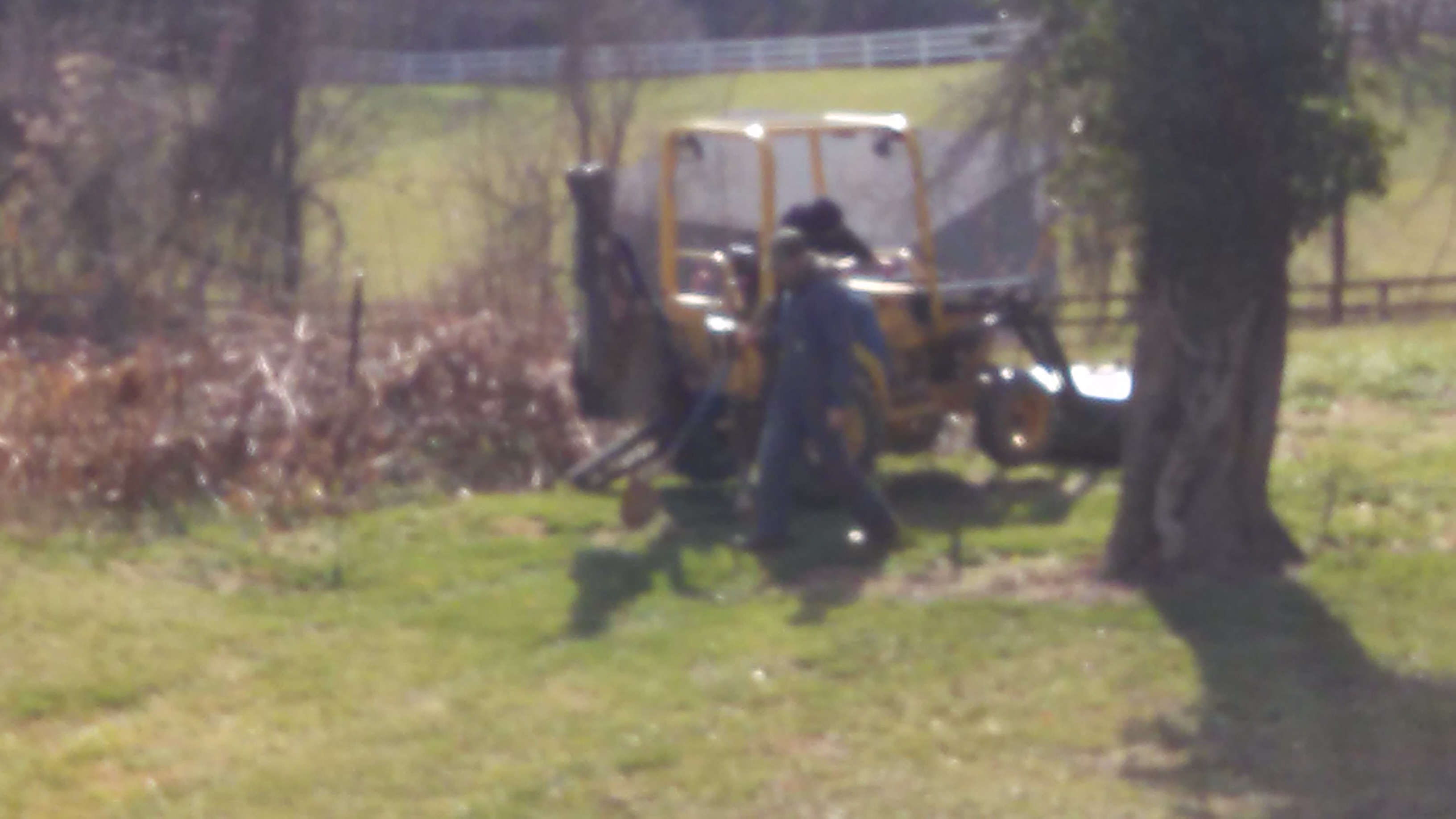 Opening/checking the septic tank & distribution box.