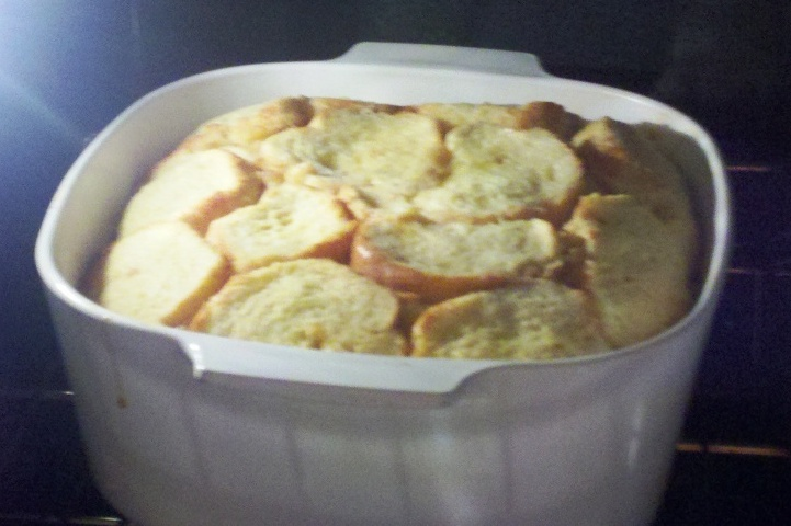 Bread Pudding Baking in a 300* Oven